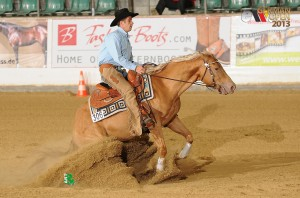 Junior Reining Finalist mit LM Peppino Blue Eyes